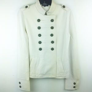 Express Ivory Knit Double Breasted Military Jacket